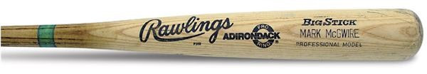 "1989 Mark McGwire Game Used Bat (34.75"")"