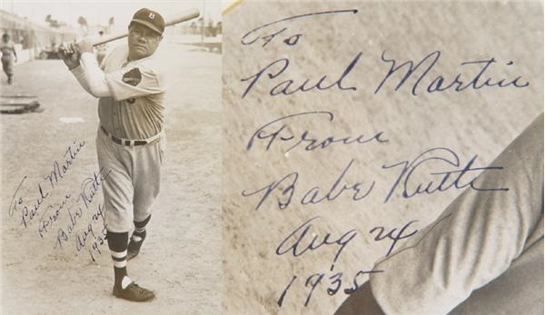 1935 Babe Ruth Boston Braves Signed Photo
