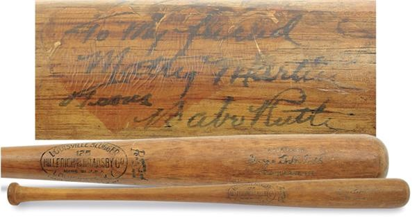 "1932 Babe Ruth Autographed Game Used Bat (35"")"