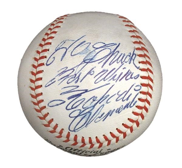 Single Signed Baseballs - December 2003