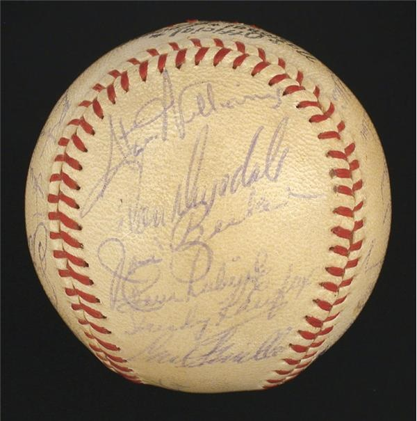 1959 Los Angeles Dodgers Team Signed Baseball