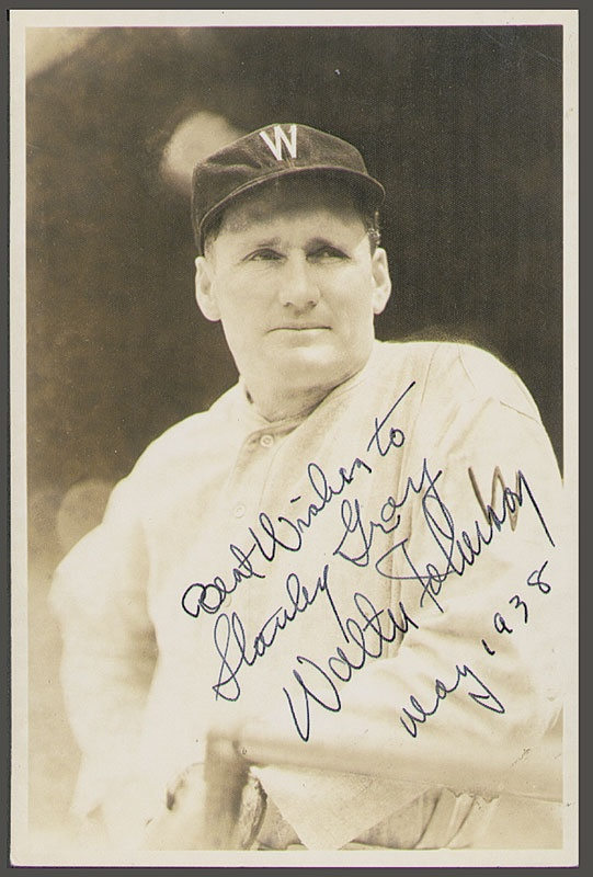 "Walter Johnson Signed Burke Photo (4x6"")"
