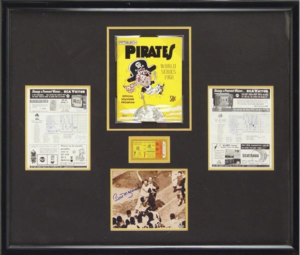 Bill Mazeroski 1960 World Series Home Run Game Display (41x35