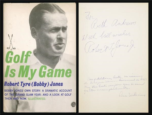 Bobby Jones Signed Autobiography