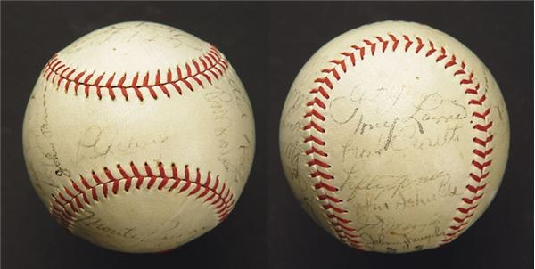 1936 New York Yankees Team Signed Baseball