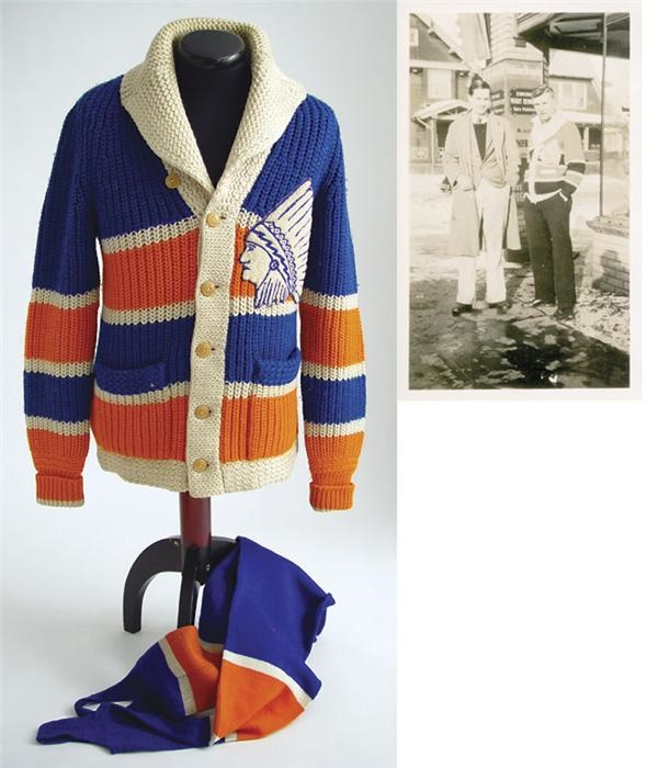 1928-29 Springfield Indians Wool Cardigan Sweater