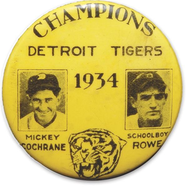 "1934 Detroit Tigers Pin (1.5"")"