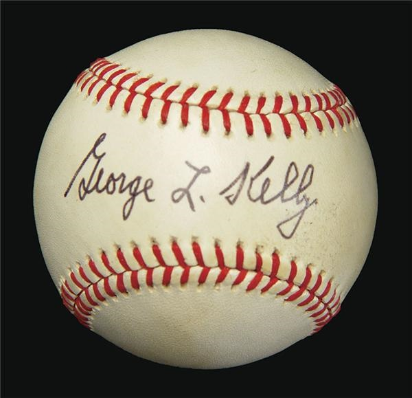 George Kelly Single Signed Baseball
