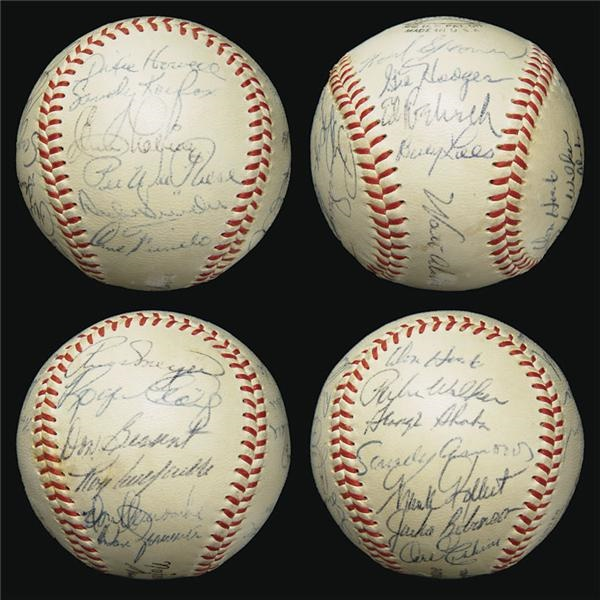 1955 Brooklyn Dodgers Team Signed Baseball