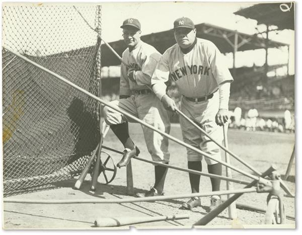 Lou Gehrig & Babe Ruth Photograph (8x6.5