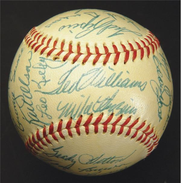 1955 Red Sox Team Signed Baseball
