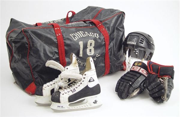 Dennis Savard Game Used Equipment Collection (4 pieces)