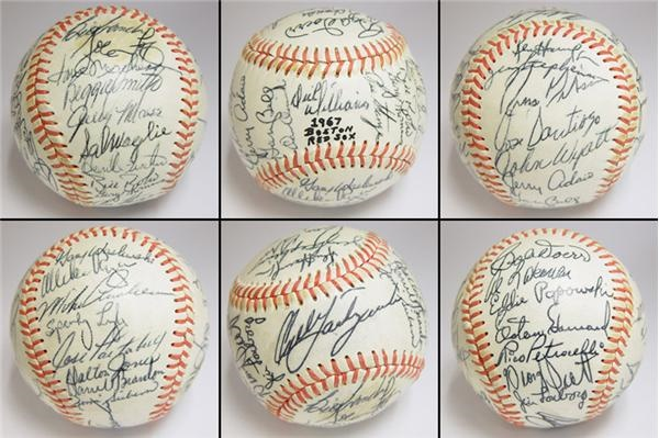 1967 Boston Red Sox Team Signed Baseball
