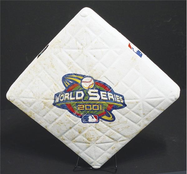 2001 World Series Game 7 Used Base