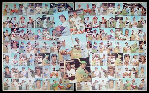 1970 Topps Super Baseball Uncut Sheets 2