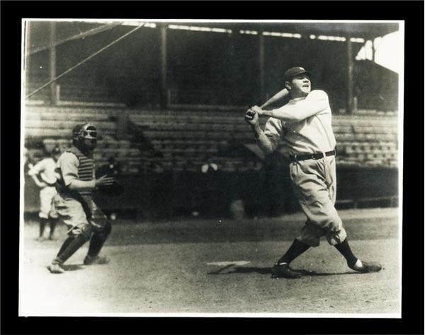 "Babe Ruth 11x14"" Batting Practice Vintage Photograph"