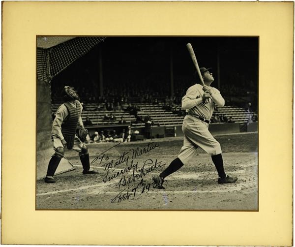 1934 Babe Ruth Signed Photograph from Matty Martin