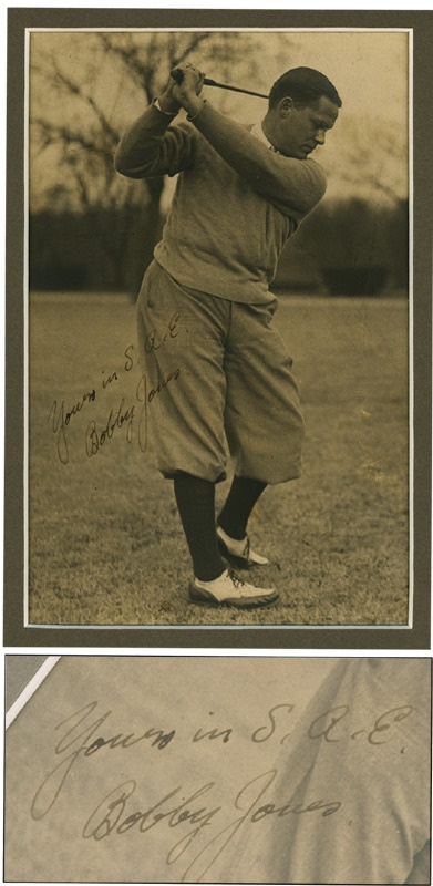 1930 Bobby Jones Vintage Signed Photo (7.5