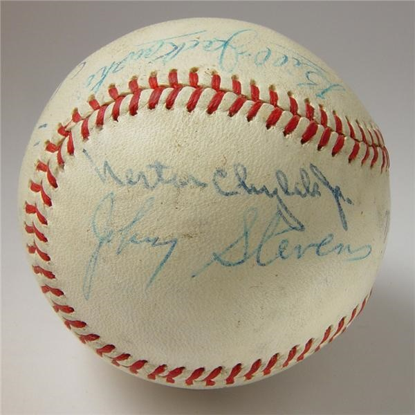 1960 World Series Game Used Baseball at Forbes Field