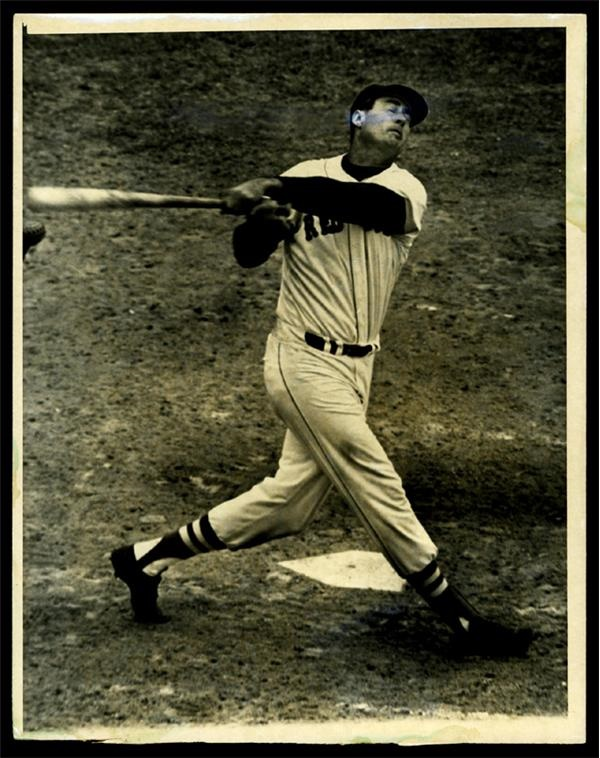 Ted Williams Last Home Run Wire Photo (7x9