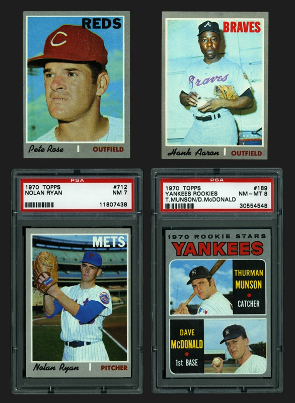 1970 Topps Baseball Set with Munson PSA 8