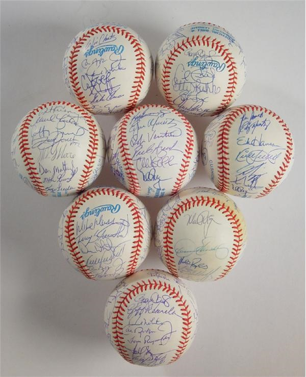 1988-95 American League All Stars Signed Baseballs (8)