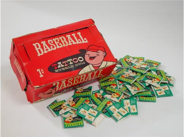 1960 Topps Tattoos Wax Box