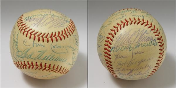 1954 American League All Stars Team Signed Baseball