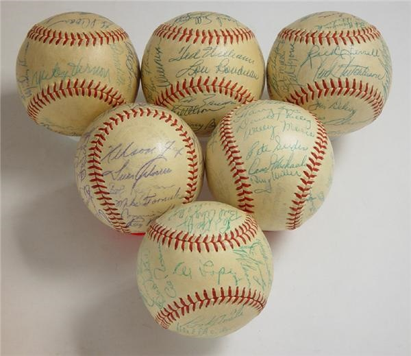 1953 American League Team Signed Baseballs (6)