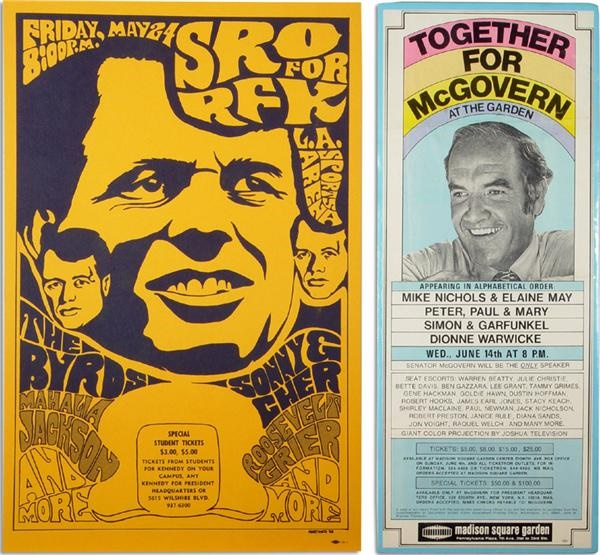 1960s Rock Concert Political Posters
