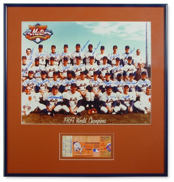 New York Mets Signed Tickets & Photos