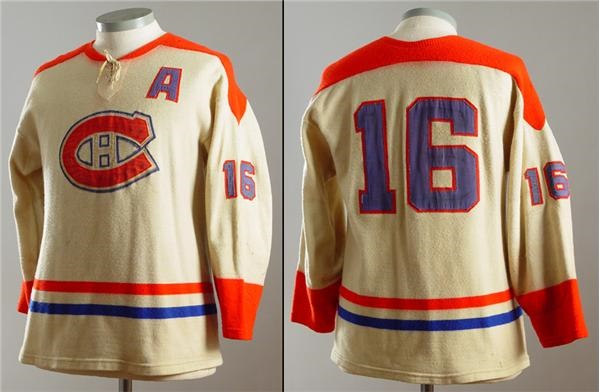 new york a095b 10064 1950's Henri Richard Montreal Canadiens Game Worn Wool Sweater