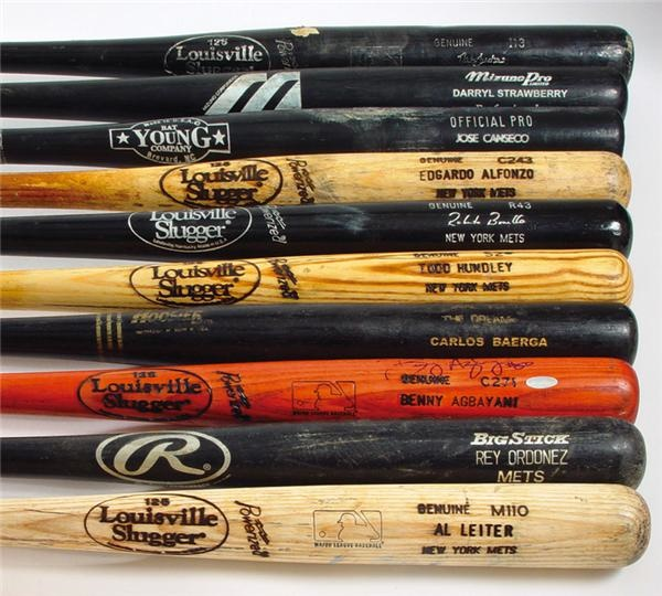 New York Mets, Yankees, and Other Teams Game Used Bat Collection (25)
