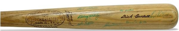 1940 Detroit Tigers Team Signed Bat