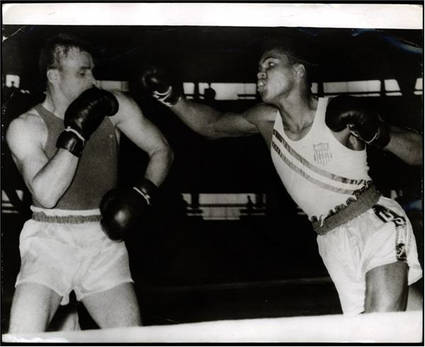 1960 Cassius Clay Olympic Wire Photo (8