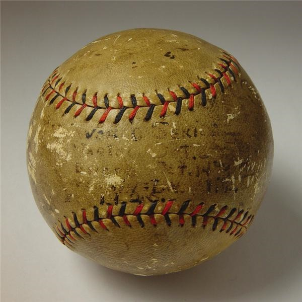 1925 Pittsburgh Pirates Team Signed Baseball from the Sporting News Archive