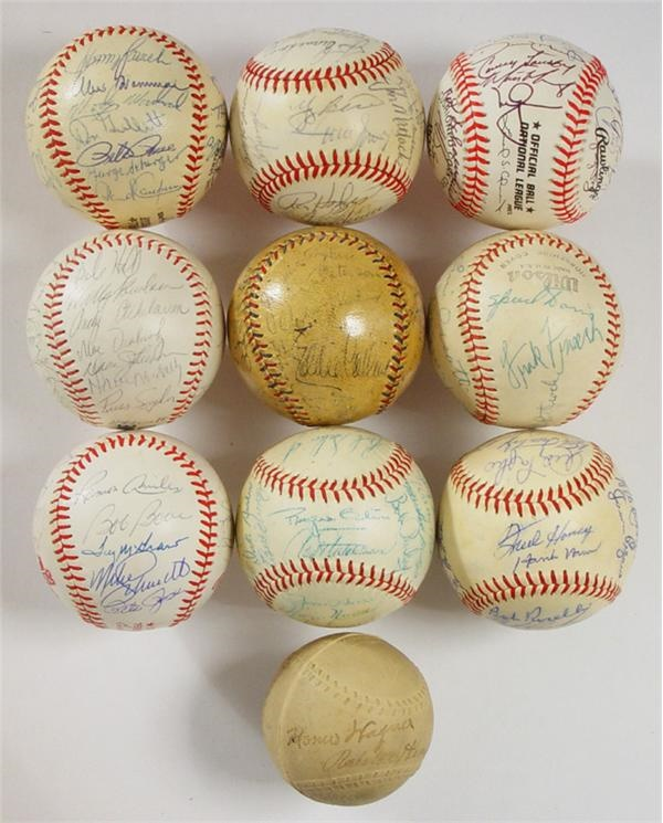 Championship and Unusual Signed Baseball Collection (19)