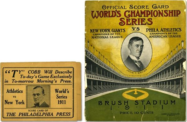 Two 1911 World Series Programs
