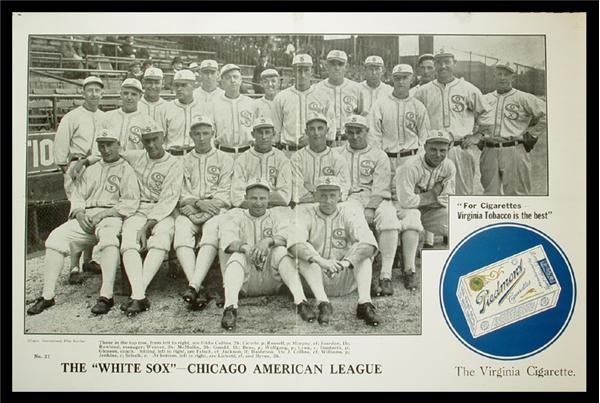 1917 Chicago White Sox Piedmont Advertisement Poster (12.5