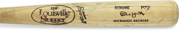 1991-93 Robin Yount Game Used Bat (34.5