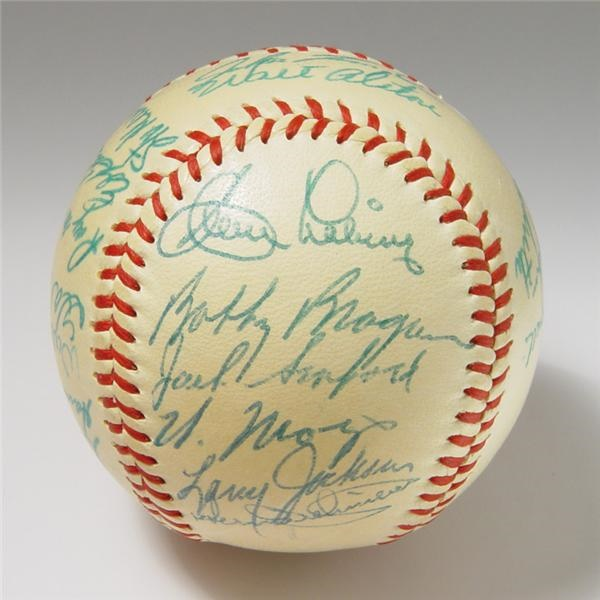 1957 N.L. All-Star Team Signed Baseball