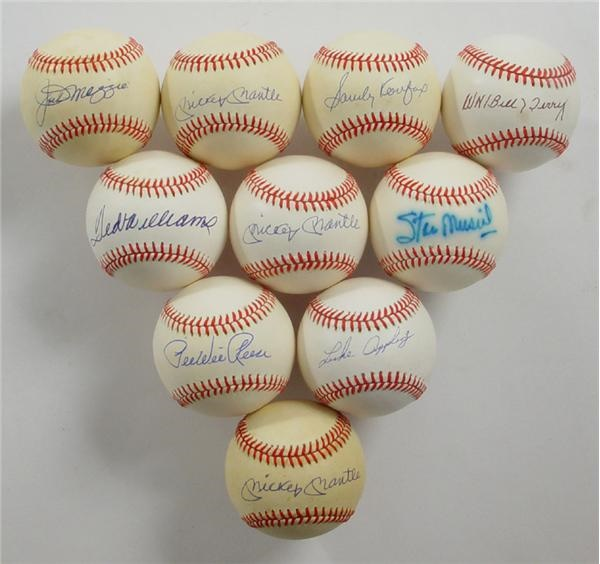 Single Signed Baseballs - June 2004