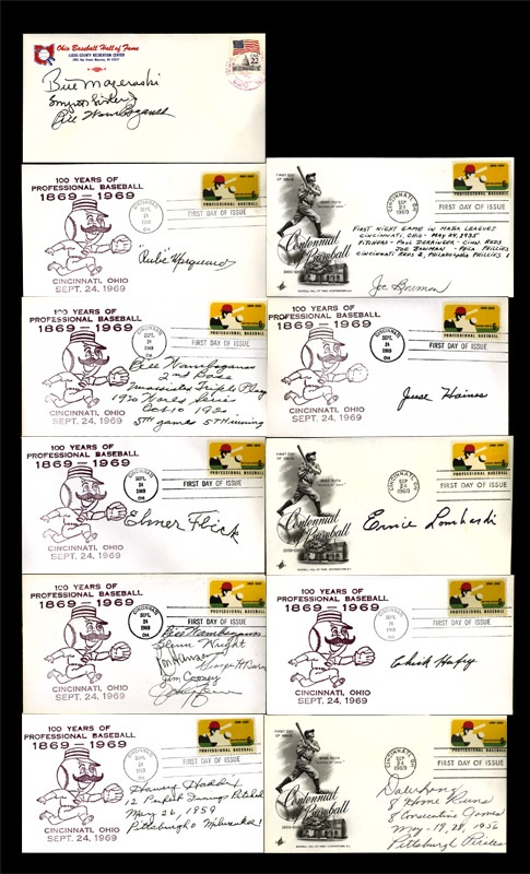 Group of (130) Signed First Day Covers
