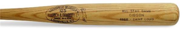 1966 Bob Gibson All-Star Game Used Bat (36