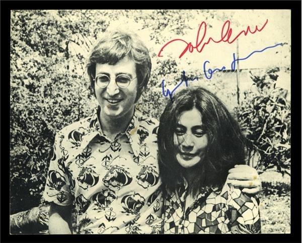 Lennon & Ono Signed Photo