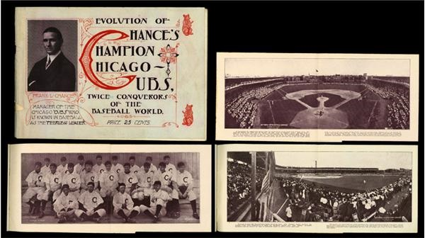 Chance's 1907 Champion Cubs Album with Panoramas