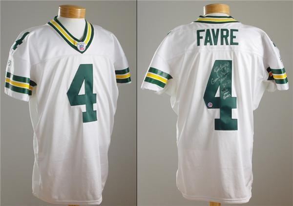 low priced c6951 84c40 2002 Brett Favre Game Worn 40,000 Passing Yards Jersey