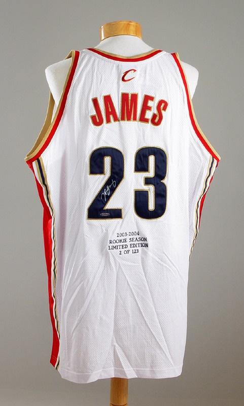 sports shoes 2e9fe 38d4a LeBron James Signed Jersey