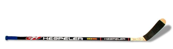 Wayne Gretzky Autographed 1999 Hespler Graphite Stick from Last Game In Edmonton
