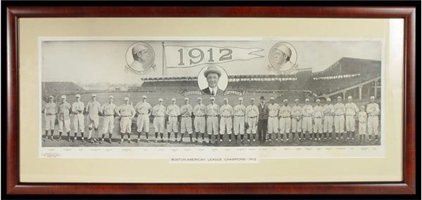 1912 Boston Red Sox Team Panorama